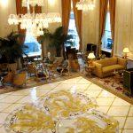 מלון פלז'ה, ניו יורק. ריצפה אמנותית ממגוון אבנים.