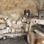 מספור ואחסון אבן שפורקה ולפני בנייתה מחדש. ממילא, ירושלים